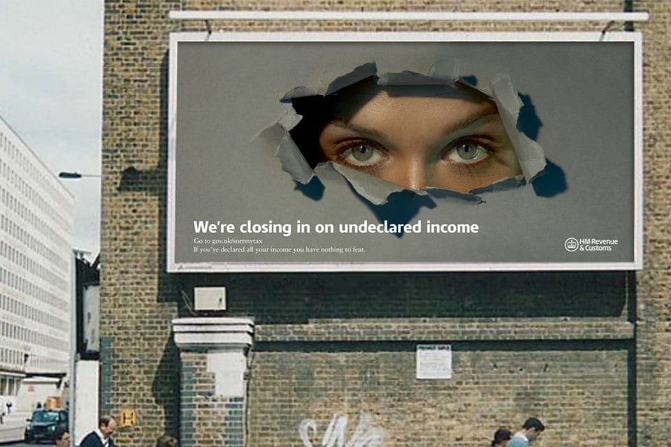 HMRC has launched an advertising campaign warning individuals to declare all their income before it's too late.